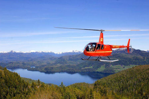 Helicopter ride over a lake with Helicopter Air Alaska in Ketchikan, Alaska