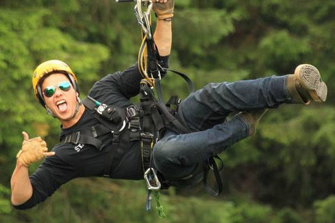Ziplining with Alaska Canopy Adventures