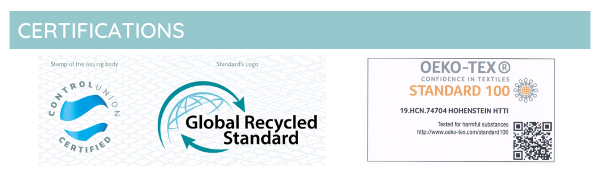 Recycled materials certification