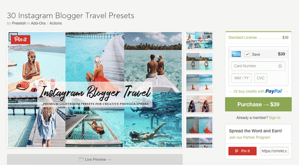 Influencer imaging travel set