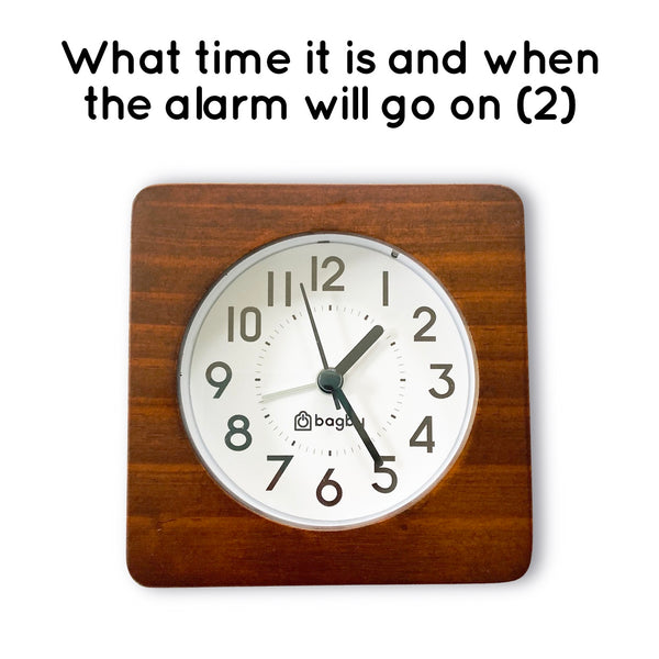 affordable analog alarm clock