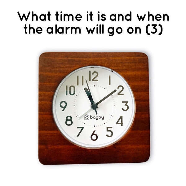 alarm clock with light night