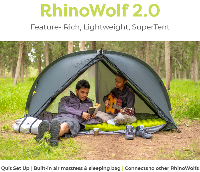 RhinoWolf 2.0 - The all-in-one Attachable Super-Tent