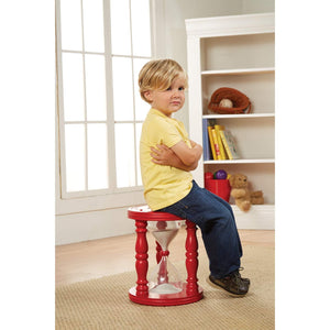 Wooden Hourglass Time Out Stool For Children