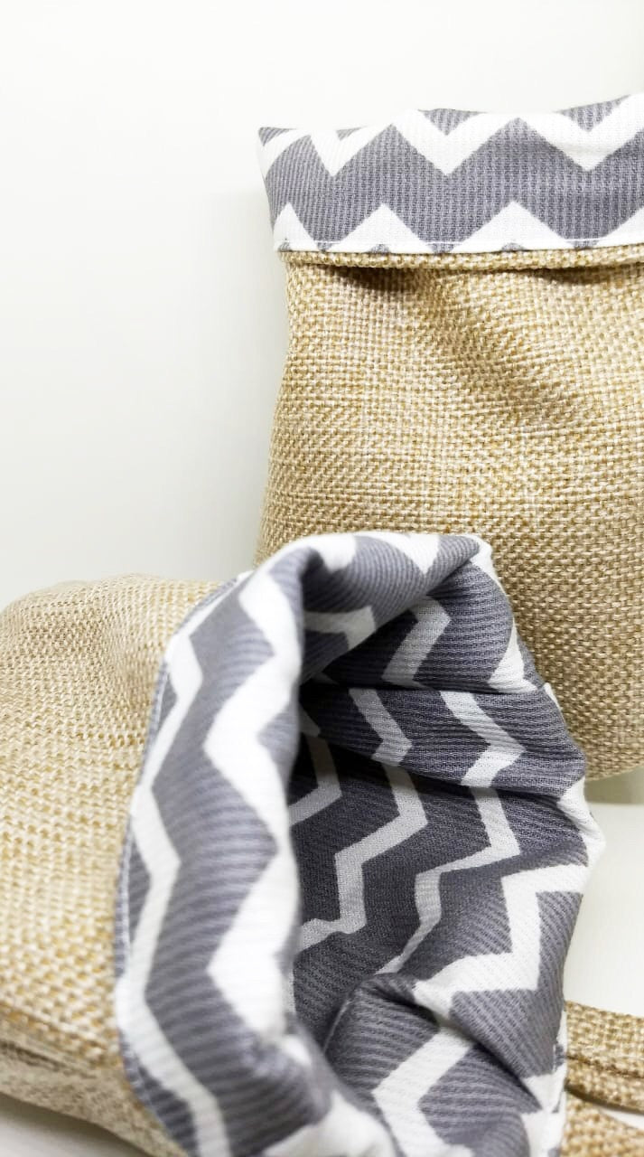Bagby - Chevron Grey White