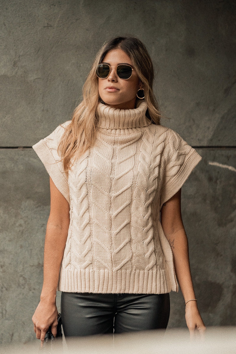 Swiss Alps Sleeveless Sweater