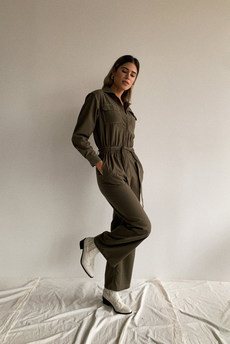Dallas Olive Jumpsuit