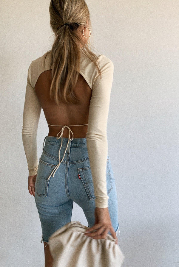 Frosty Open Back Tie Top