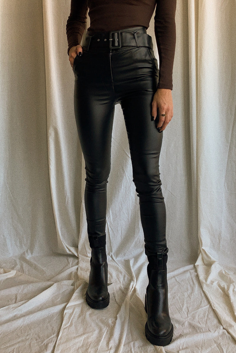 Daisy Faux Leather Pants