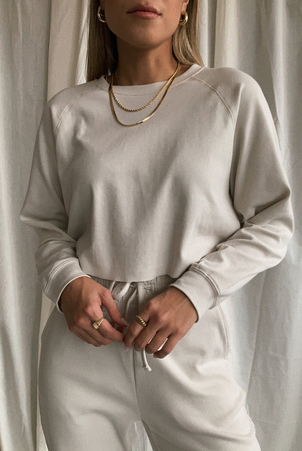 Morning Dusk Crop Sweatshirt Bone