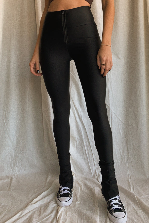 Brooklyn High Rise Split Detail Pants