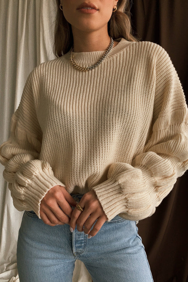 Malibu Bubble Sleeve Sweater