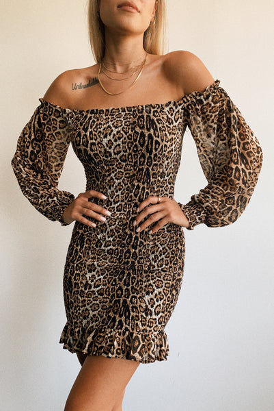 Sienna Leopard Smocked Dress