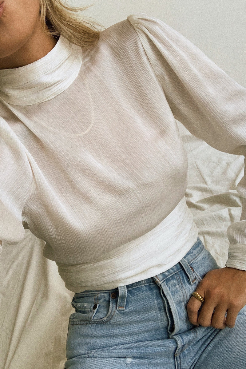 Weekend Muse Satin Top
