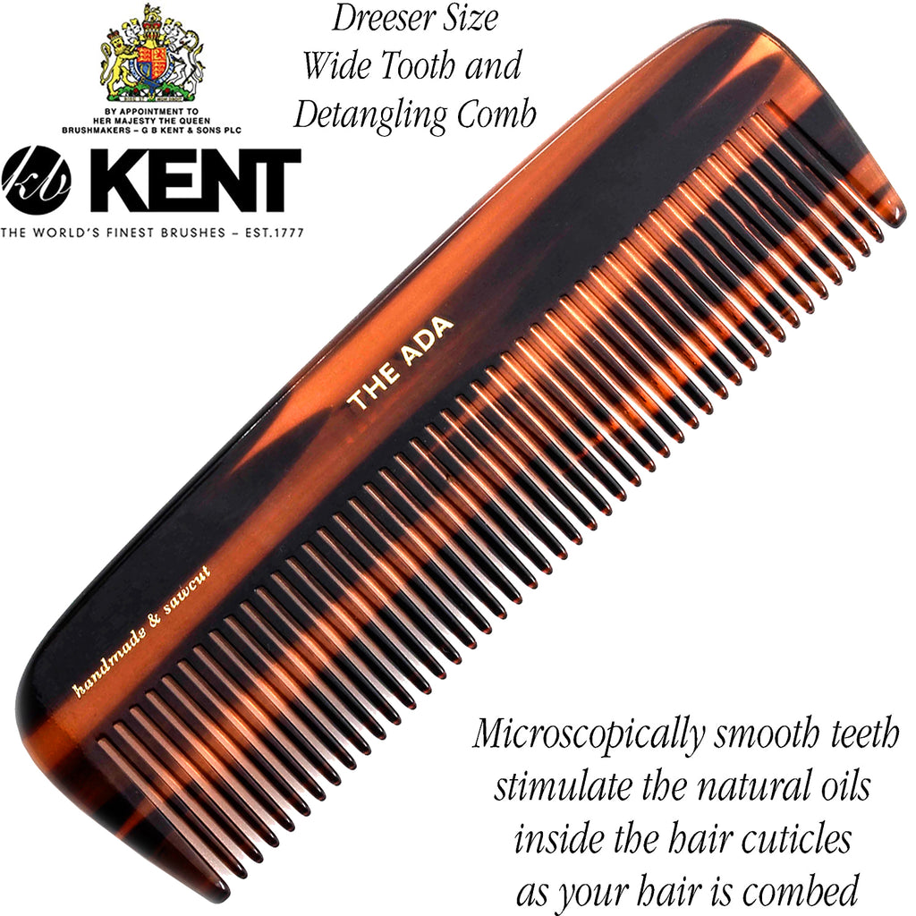 Kent 12T 5 Inch Detangle Wide Teeth Comb for Curly Thick Coarse Hair