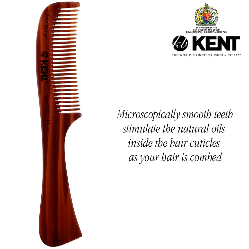 "Kent 14T 6.5"" All Course Handmade Comb for Men. Sawcut"