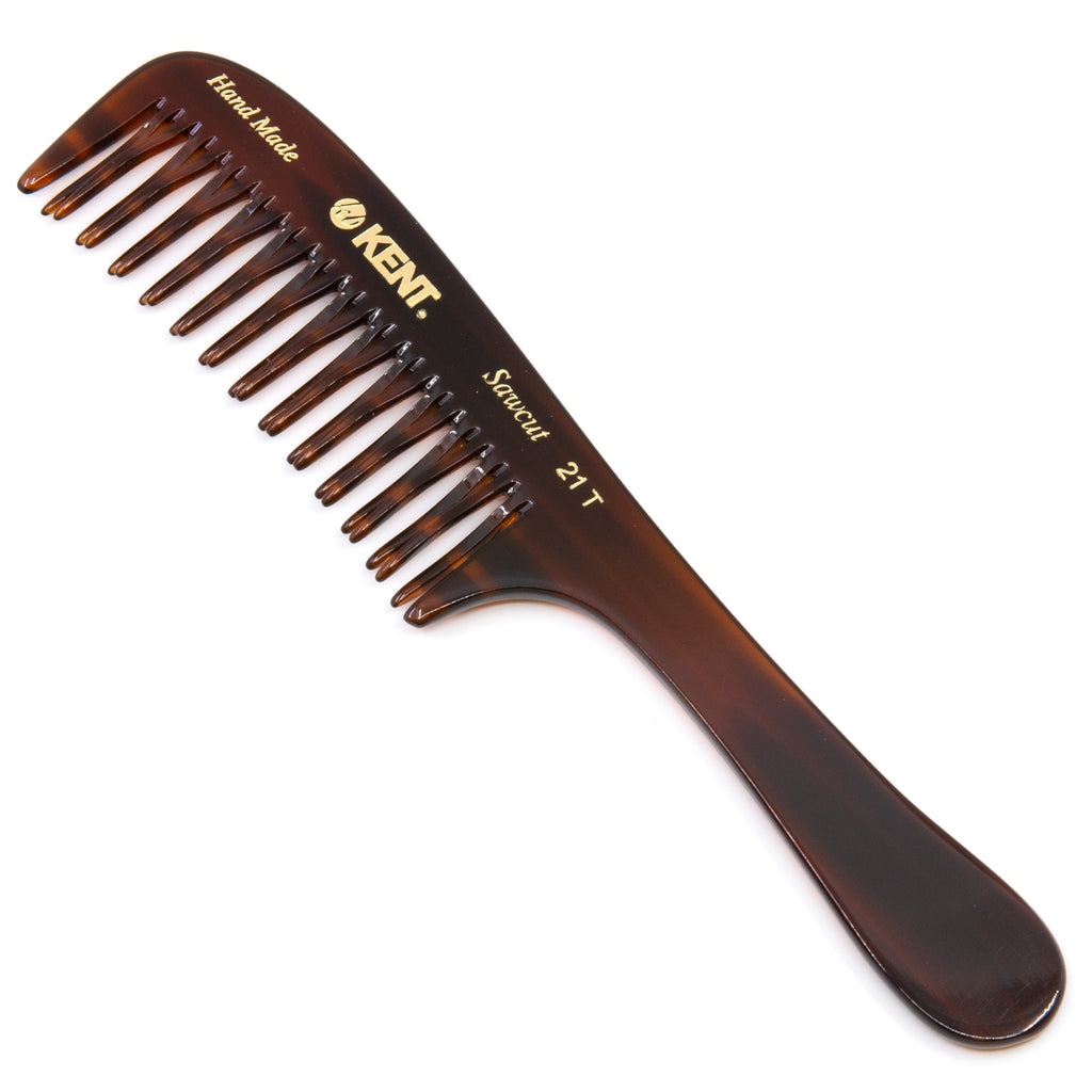 Kent 21T Hand Made Curved Double-Row Detangling Comb, 7.5 Inch, 1 Ounce
