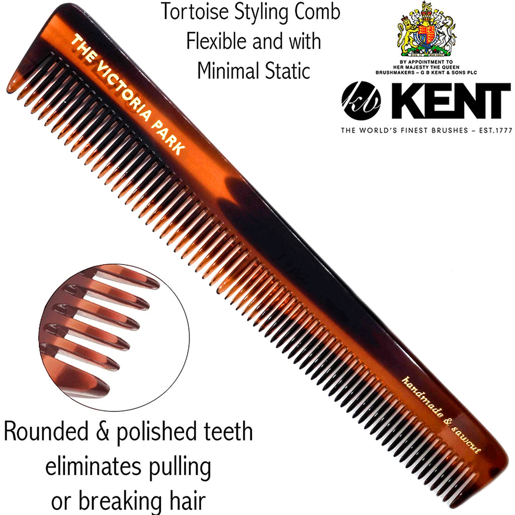 Kent 4T 6 Inch Hand-Made Dresser Grooming Comb Coarse / Fine Hair
