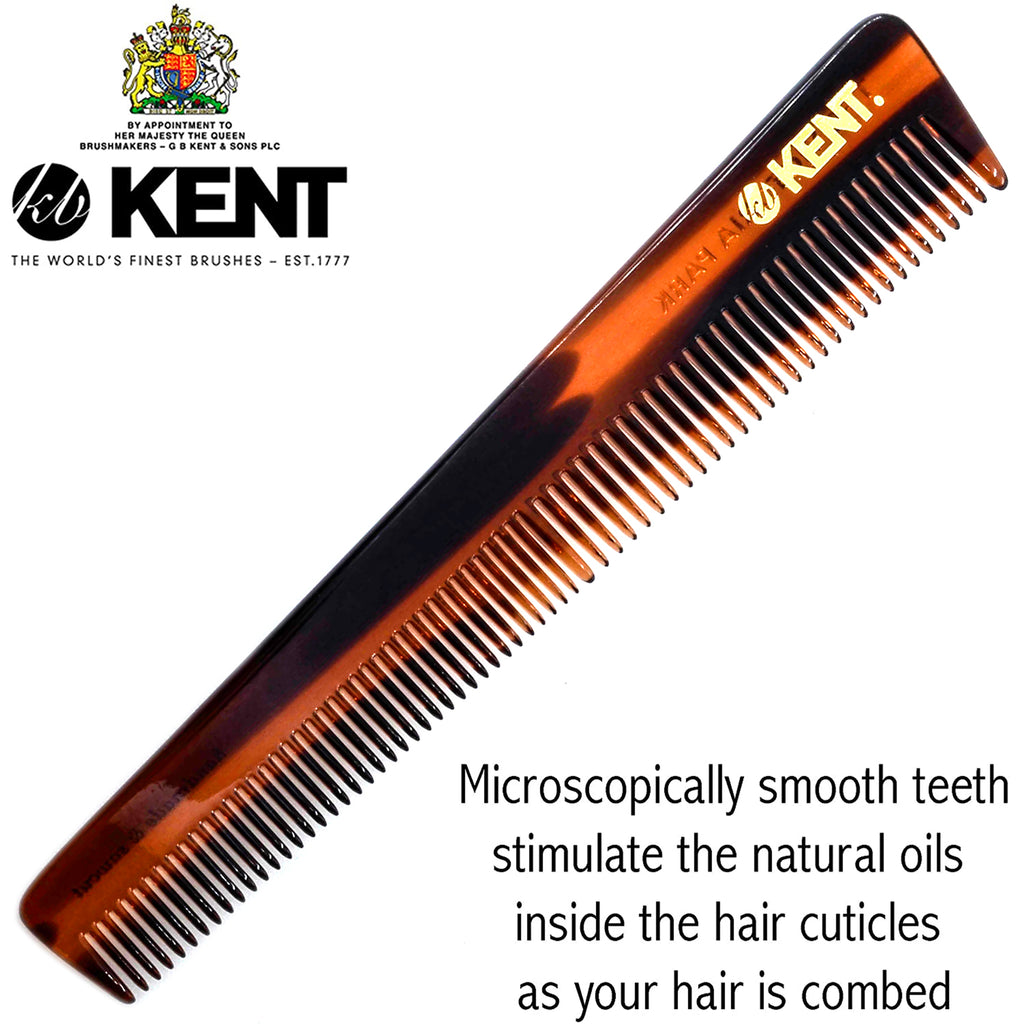 "Kent 4T 6"" 148mm The Hand Made General Grooming Comb Coarse/Fine Hair. Sawcut"