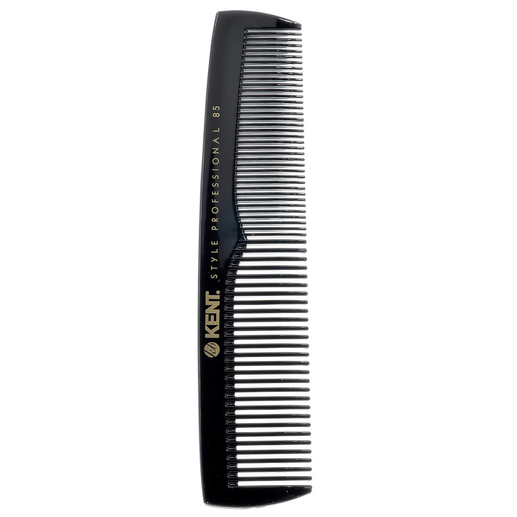 Kent SPC85 Style Professional Combs Hard Rubber, Anti-Static, Unbreakable & Heat Resistant (128mm)