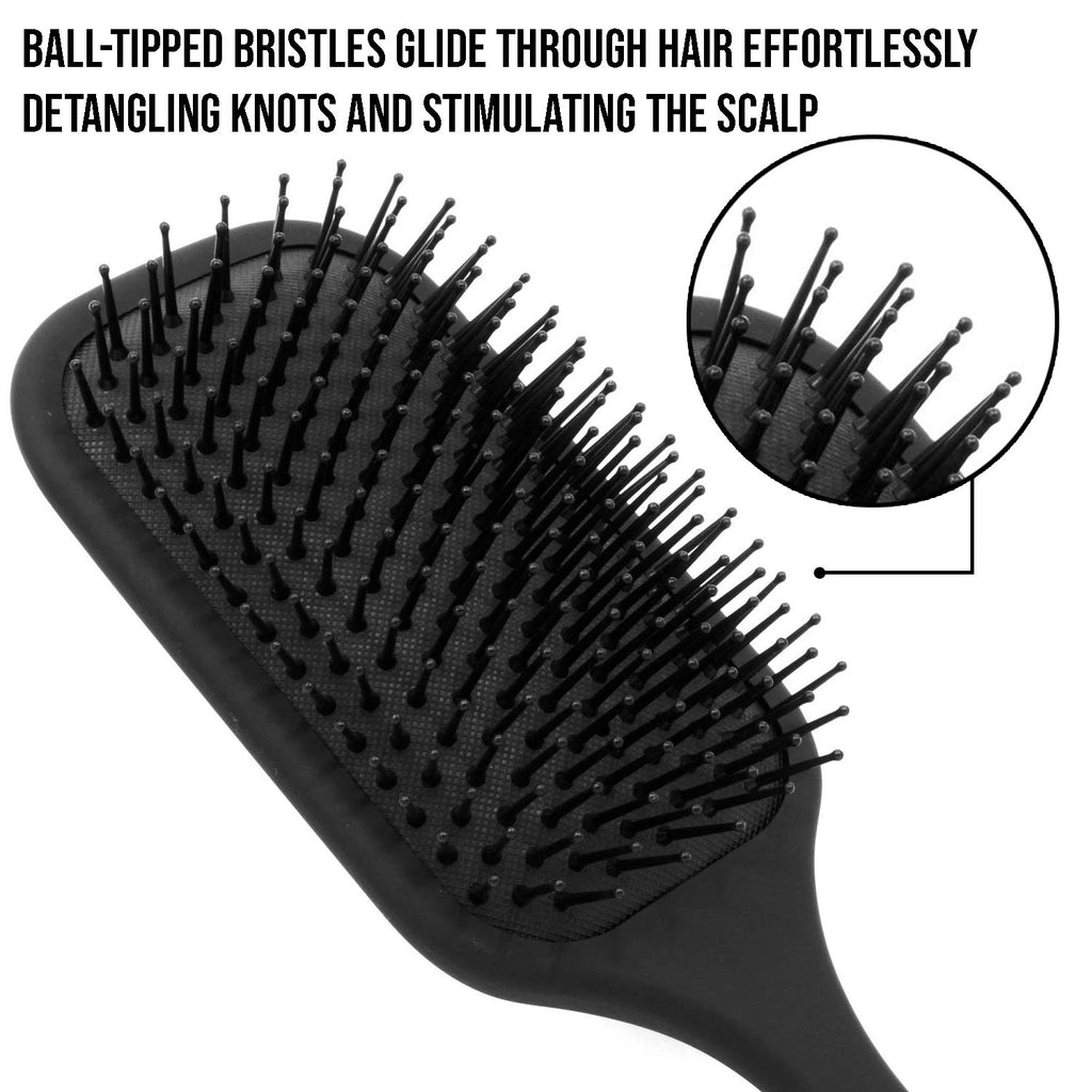 Giorgio Air Cushioned Detangling Paddle Hair Brush with Gentle Ball Tipped Bristles