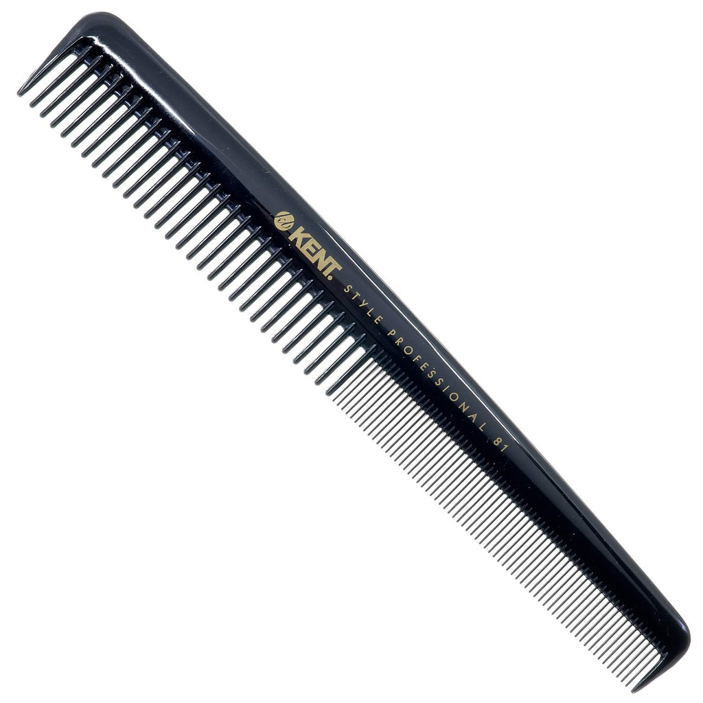Kent SPC81 Professional Cutting Comb with Coarse and Fine Shallow Teeth (184mm)