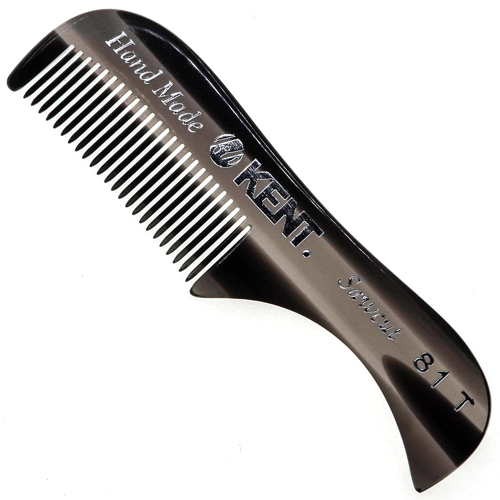 Kent 81T 2.75 Inch Men's Handmade Beard and Moustache Comb, X-Small