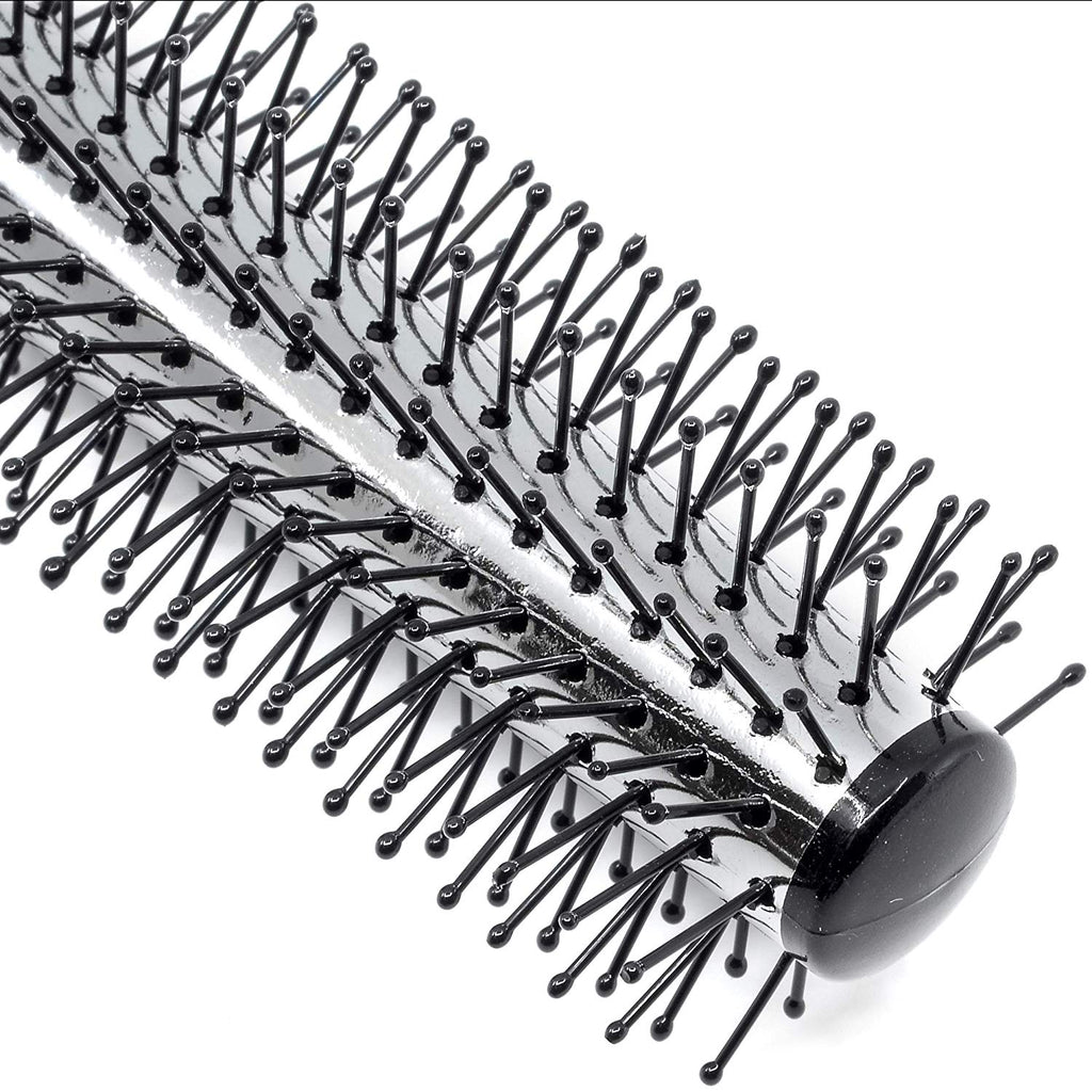 Kent KS20 Salon Style Hair Brush. Radial Black Nylon Ball Tip 12 Row
