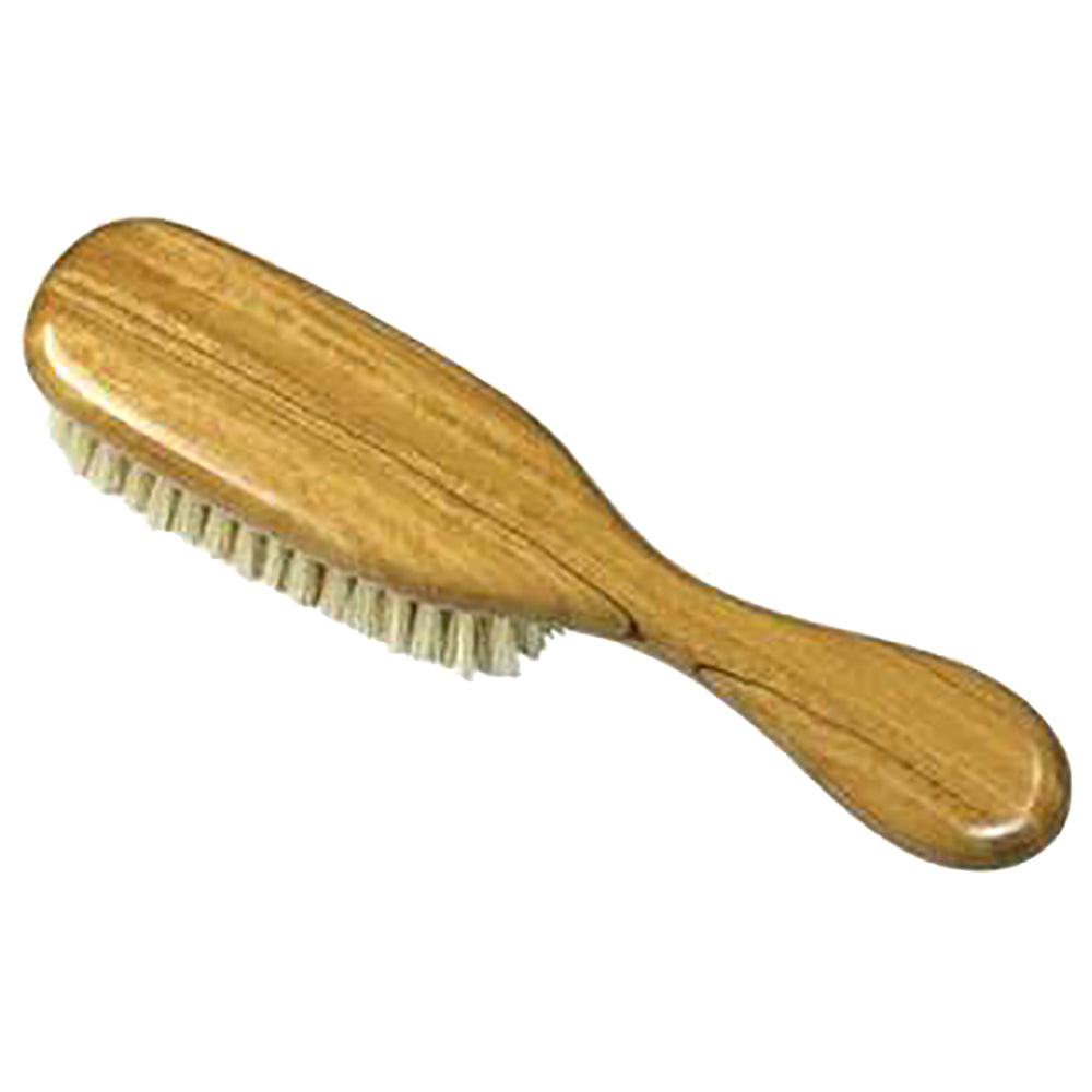 "Kent BA21 (7.5"") Baby Super Soft pure white boar bristle Hairbrush"