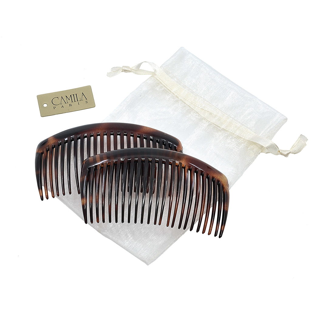 Camila Paris AD66-2 Large Classic Tortoise Shell French Hair Side Comb