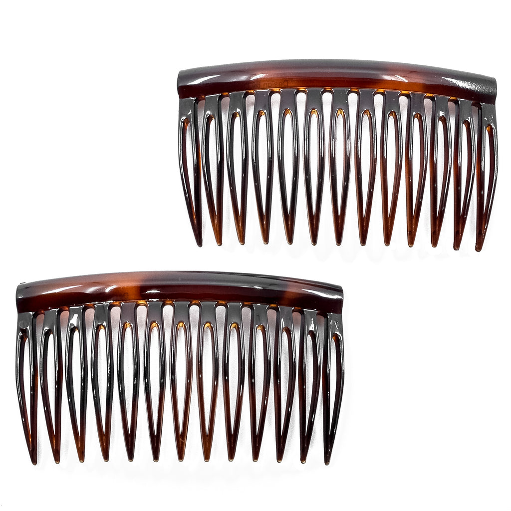 Camila Paris AD825-2 Tortoise Shell French Hair Side Comb for Women