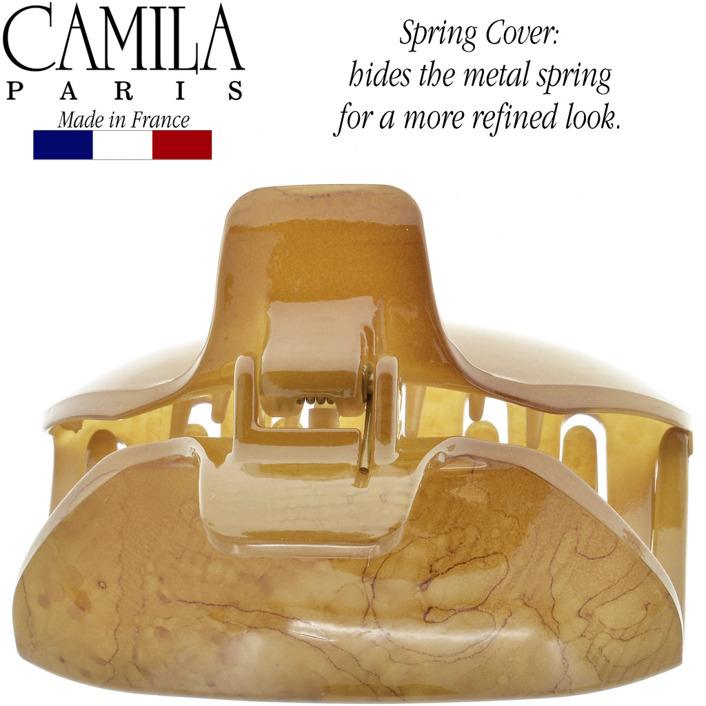 Camila Paris CP2540 Spring Covered French Hair Clip for Women