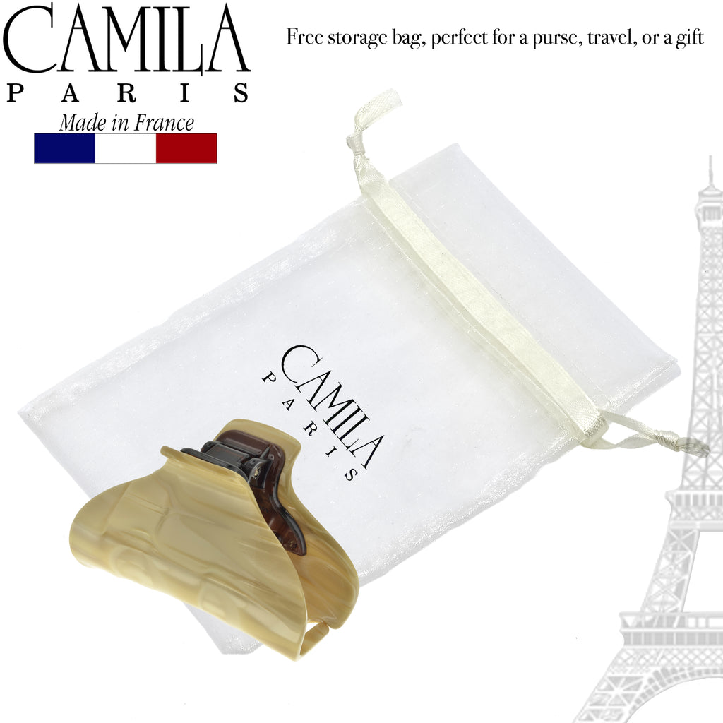 Camila Paris CP2125 3 Inch Handmade French Hair Clip for Women with Spring Cover