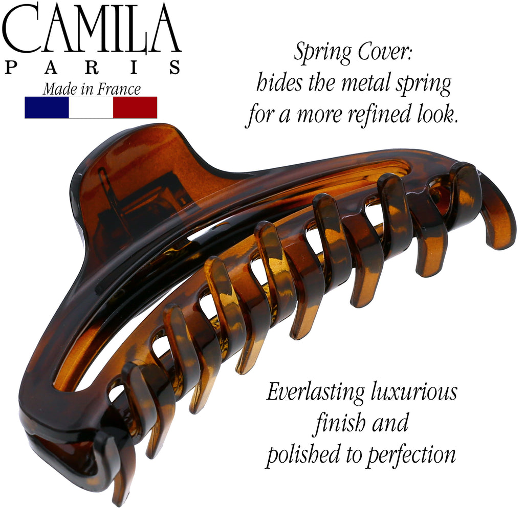 Camila Paris CP2595 Spring Covered French Hair Clip for Women