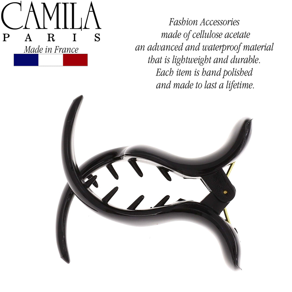 Camila Paris CP2435 Small Black Women's French Hair Clip Claw Ponytail