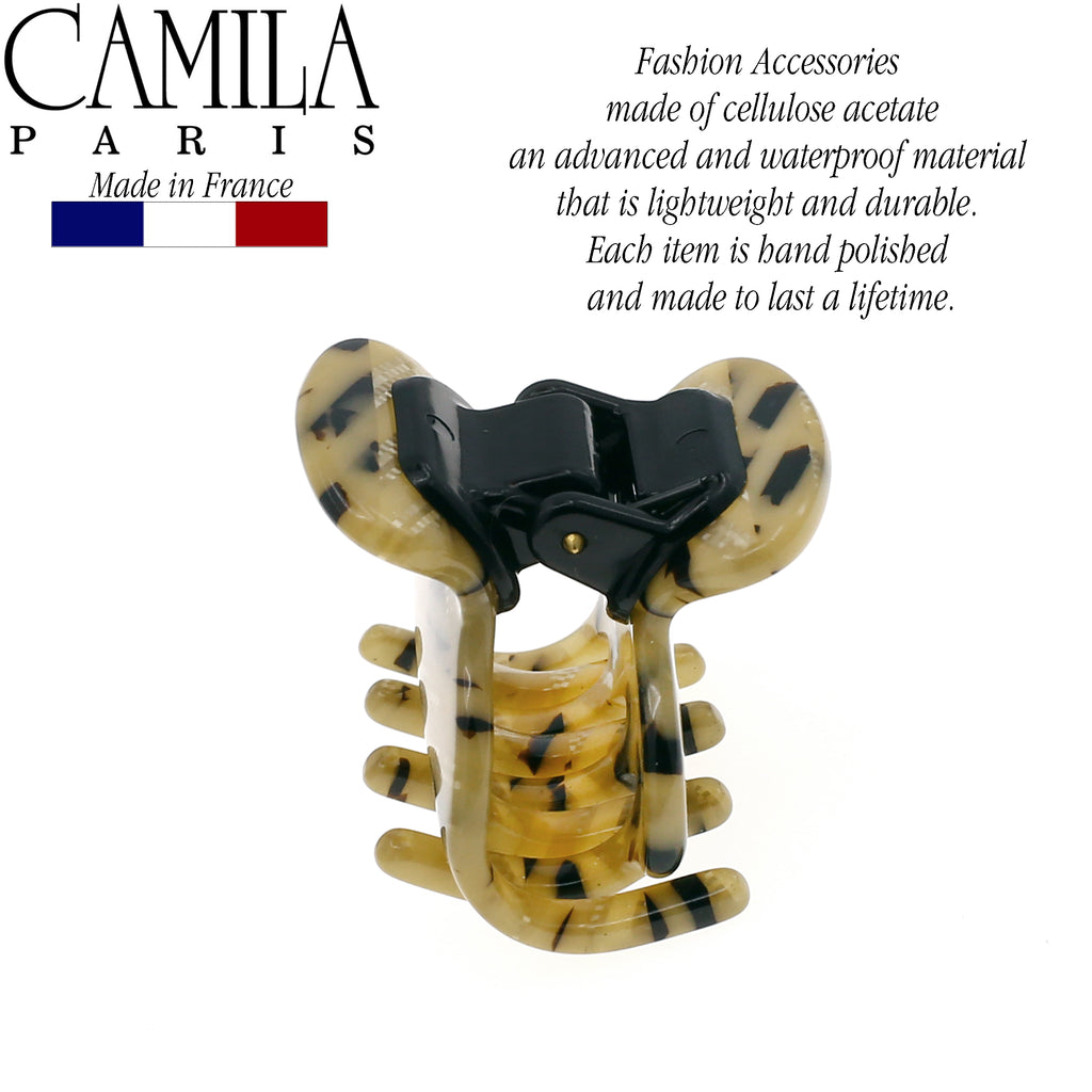 Camila Paris CP2501 Small Handmade Beige Women's French Hair Clip Claw