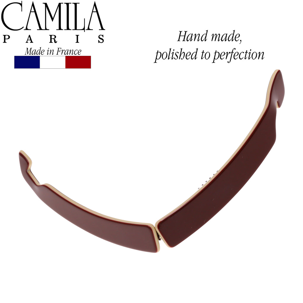 Camila Paris CP2517 French Hair Banana Comb Clincher Handmade Red