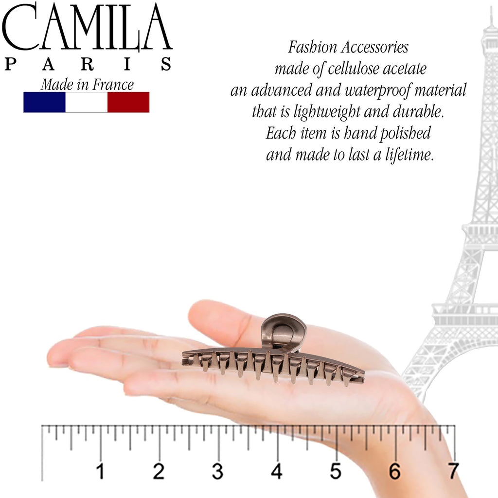 Camila Paris CP2661 Spring Covered French Hair Clip for Women