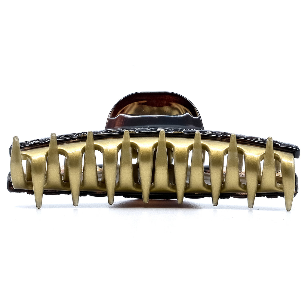 Camila Paris CP2626 Large Brown and Gold Women's French Hair Clip Claw