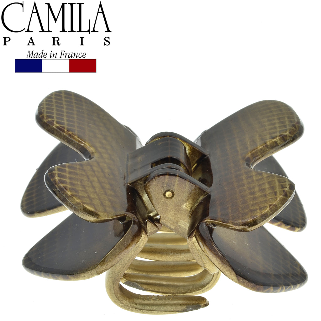 Camila Paris CP2674 2.25 Inch Gold French Butterfly Clip for Women