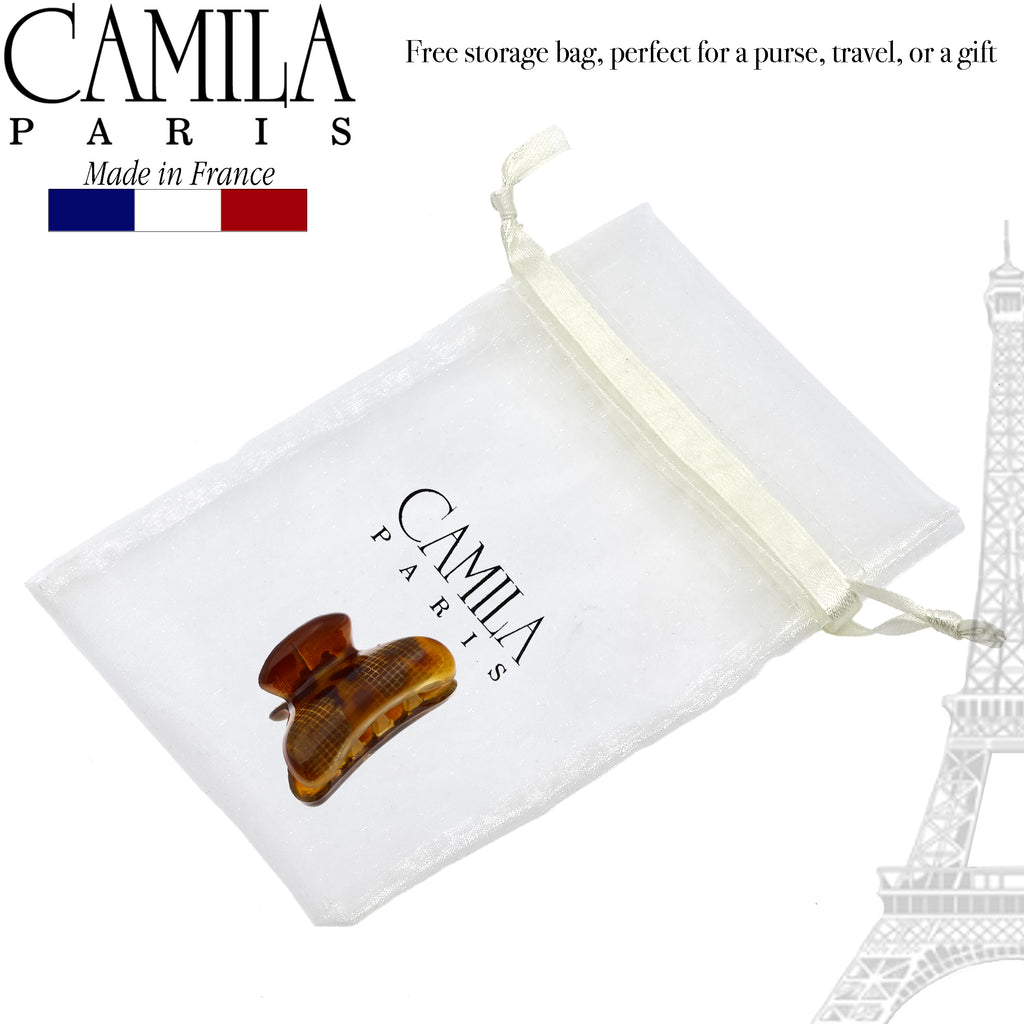 Camila Paris CP2737 Brown Women's French Hair Clip Claw No Slip Grip