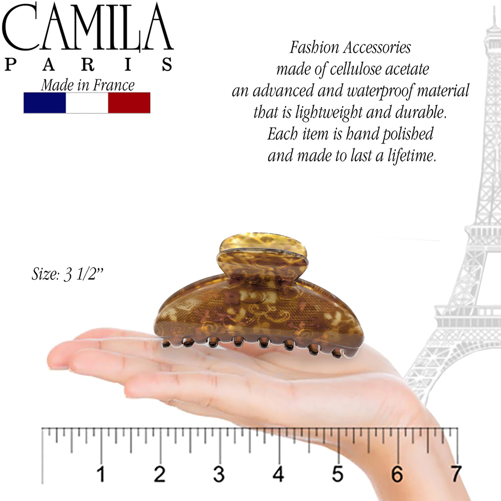 Camila Paris CP1770 3.5 Inch French Hair Clip for Women with Grip Link