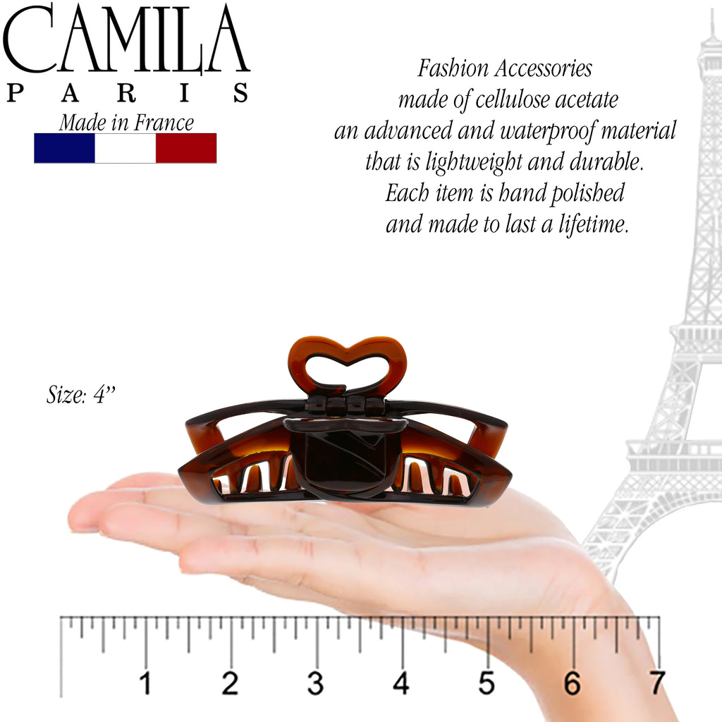 Camila Paris CP2770 4 Inch French Hair Clip for Women with Grip Link