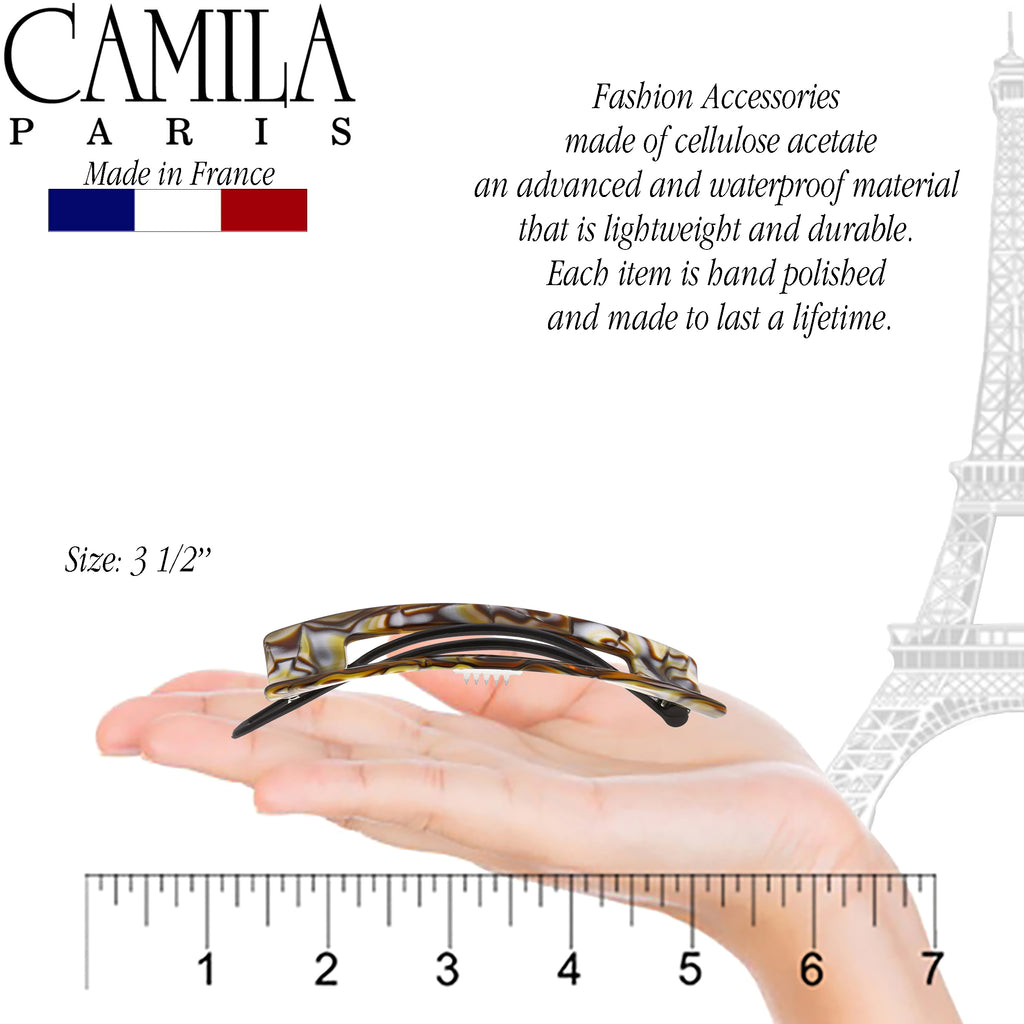 Camila Paris CP2816 Handmade Onyx French Hair Barrette Slide Clip