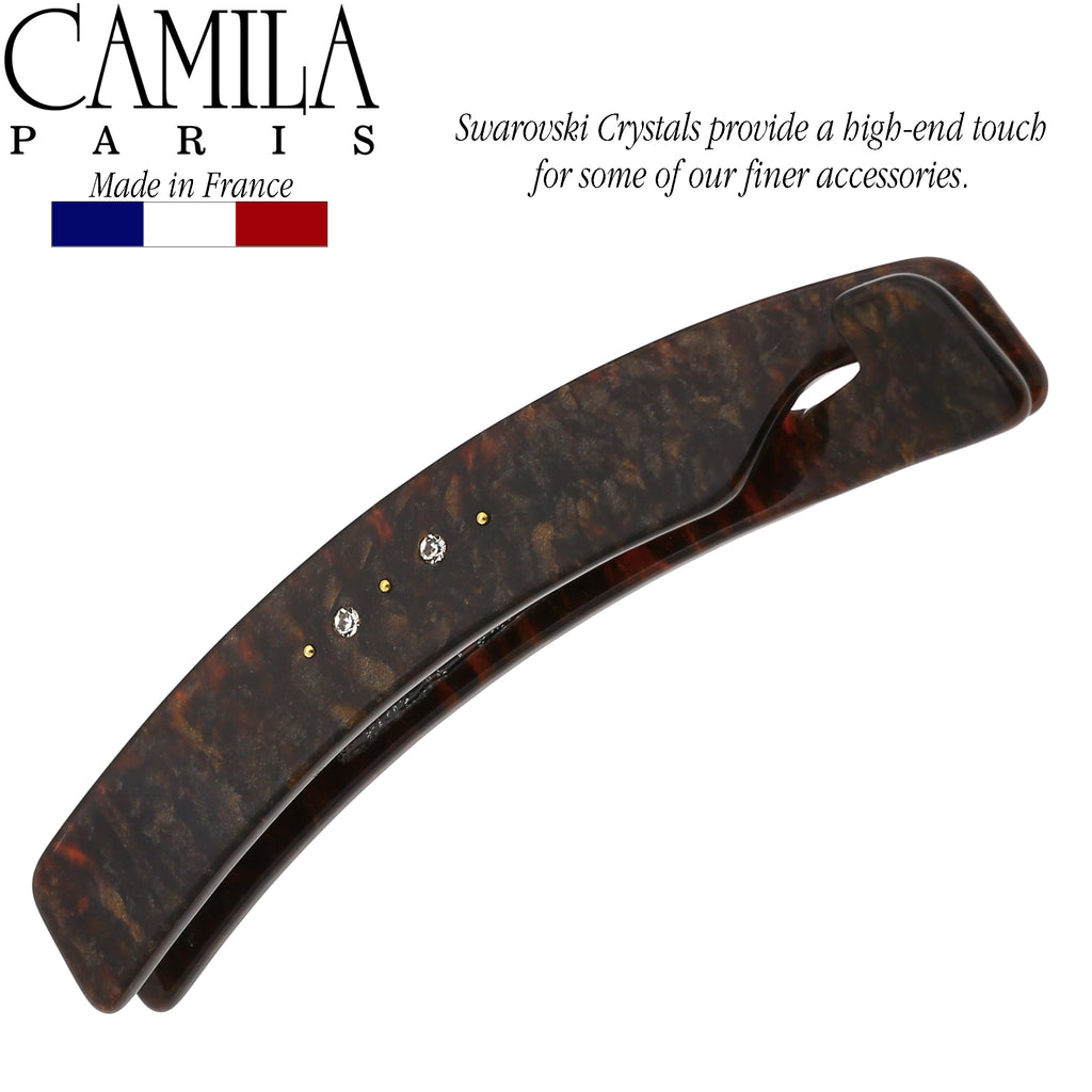 Camila Paris CP2841 French Hair Banana Comb Clip Clincher Brown