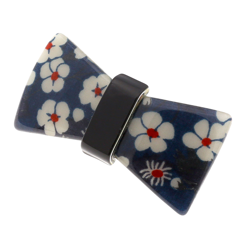 Camila Paris CP2855 Small Handmade Blue French Hair Barrette Automatic