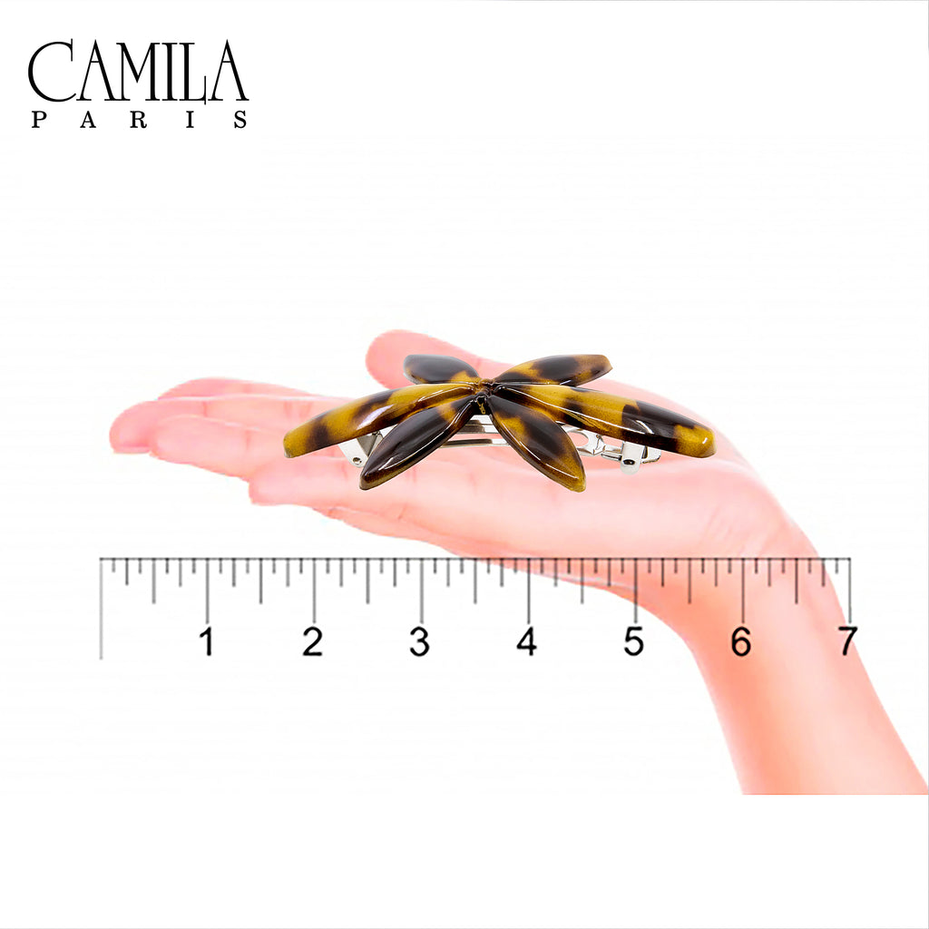 Camila Paris CP2426 Tortoise French Hair Barrette Automatic Clasp