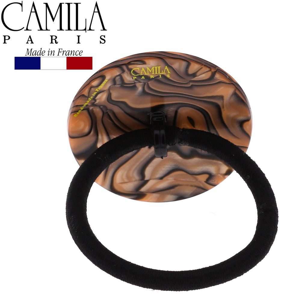 Camila Paris CP2962 Handmade Brown French Hair Ponytail Holder Ties