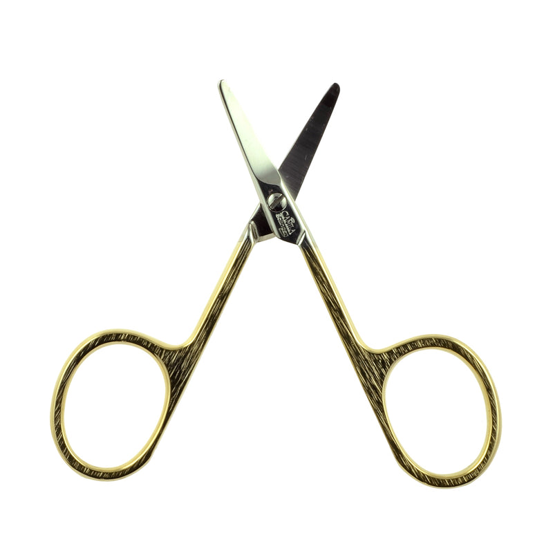 "Camila Solingen CS01 3"" Gold Plated Rounded Safety Tip Baby Scissors."