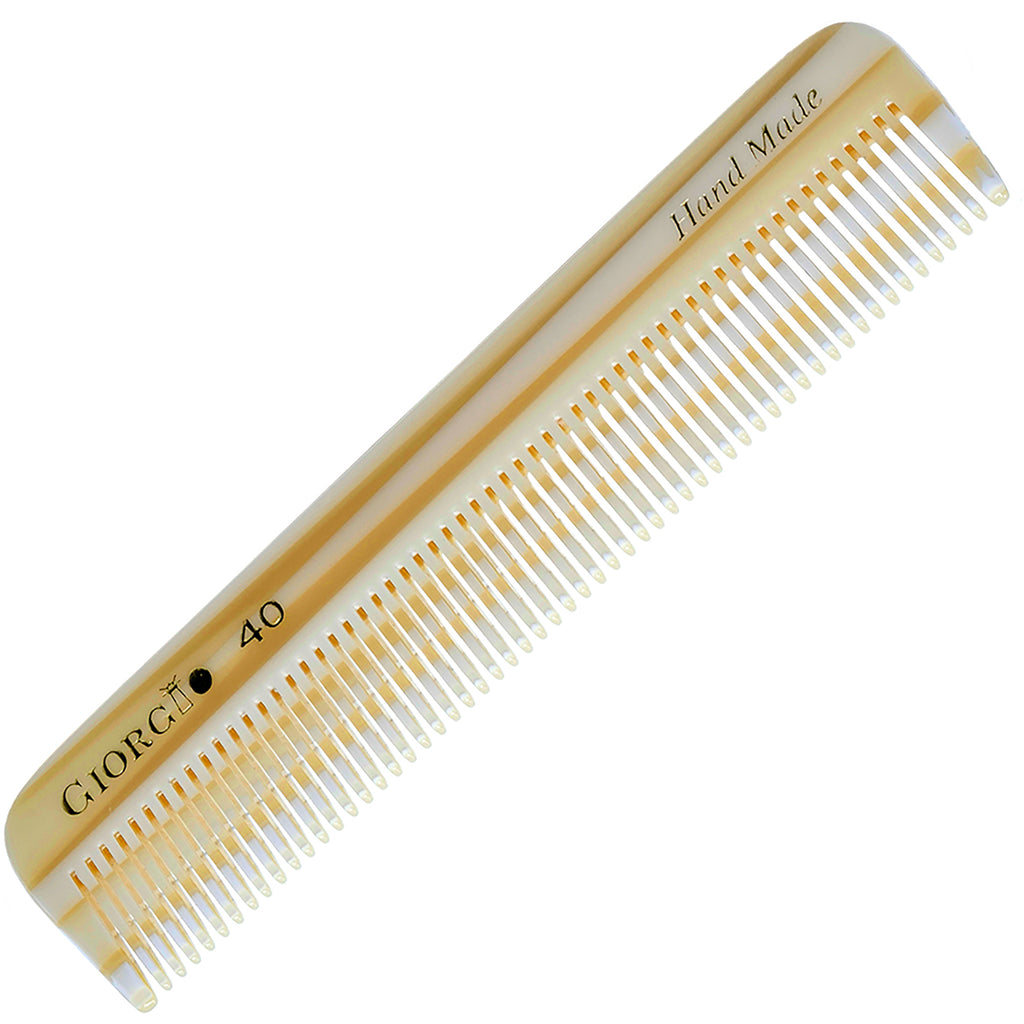 Giorgio G40 4.5 Inch Handmade All Fine Tooth Pocket Comb For Styling